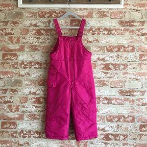 London Fog Toddler Pink Snow Bib Overalls
